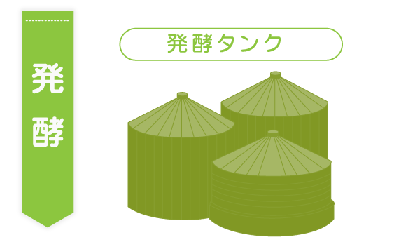 発酵タンクのイラスト